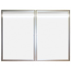 vitrine d'affichage lumineuse à porte battante # VT0151