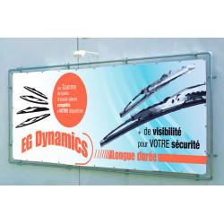 structure fixation murale pour banderoles calicots et baches publicitaires # MB6331