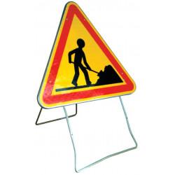panneau balisage chantier sur pied mobile # PR0151