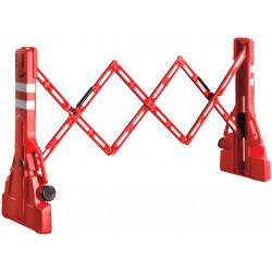 Barrière extensible à rangement intégré pour chantier # MU2281