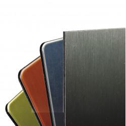 Plaque aluminium sandwich PE Coloris métal brossé 1 face