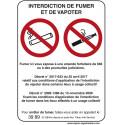 panneau interdiction vapoter # AD0111