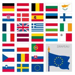 Drapeaux pays Européens
