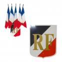 drapeau + écusson république française # PV2123