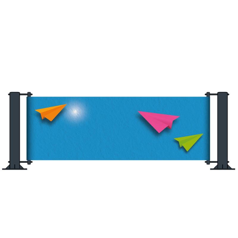 Poteau tendeur pour fixation de banderole publicitaire au sol