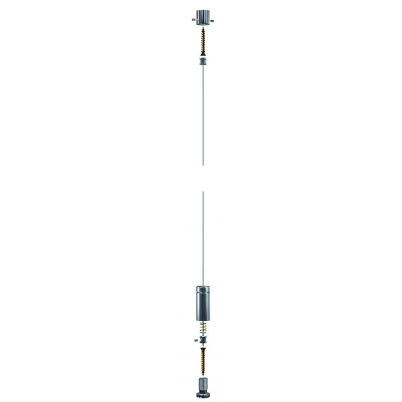 Signalétique sur câble - Kit sol/plafond
