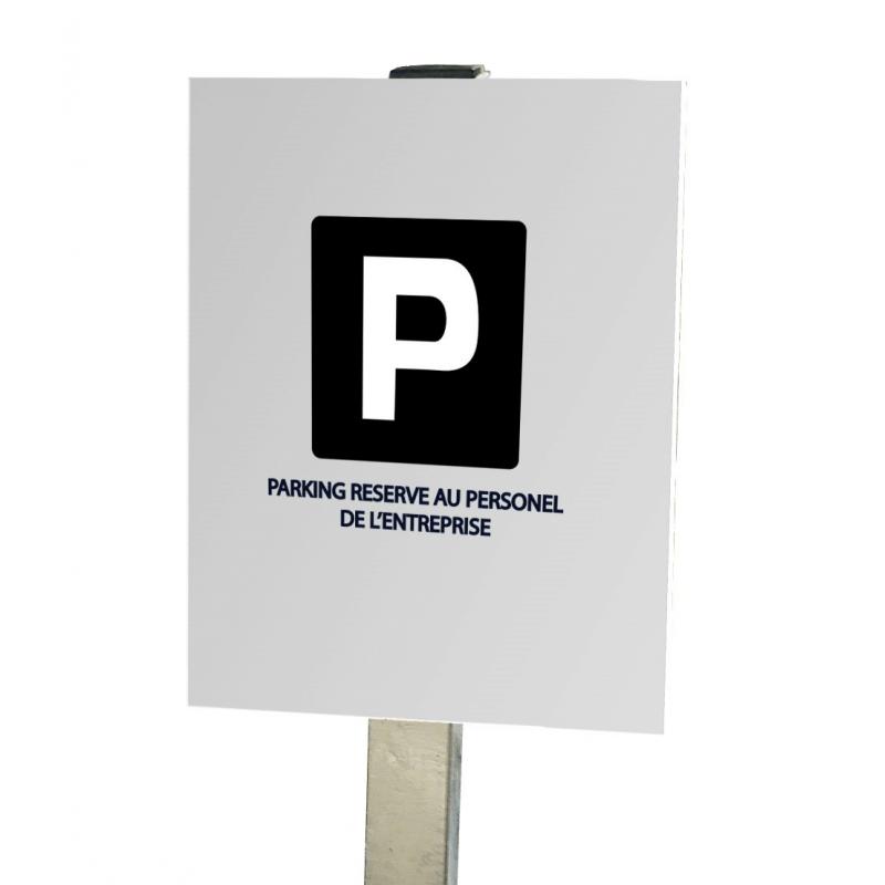 Kit panneau publicitaire pré enseigne alu plié - 1200 x 800mm