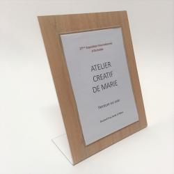 Porte etiquette de table  ecologique et recyclable aspect bois