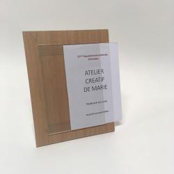 Porte etiquette design ecologique aspect bois