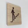 Plaque signalétique de porte écologique accès escalier