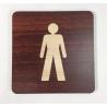 Plaque signalétique de porte écologique toilettes homme