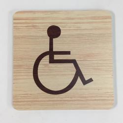 Plaque signalétique de porte écologique toilettes handicapé