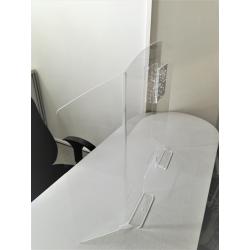 vitre paroi plexiglas protection des virus et corona virus  pour bureau et accueil