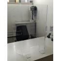 vitre Hygiaphone de bureau et comptoir avec perforations audio double en PET