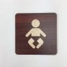 Plaque signalétique de porte écologique change bébé
