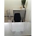 Panneau protection de bureau et comptoir en plexiglas