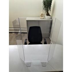 Panneau protection de bureau et comptoir en plexiglas Hygiavirus
