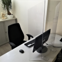 plaque de plexi de protection des virus pour comptoir et bureau
