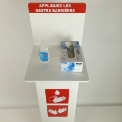 pied support gel hydroalcoolique