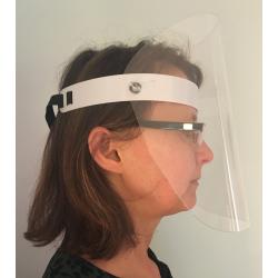 masque visière de protection lutte covid en PET
