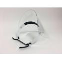 Visière transparent de protection avec réglage de serrage