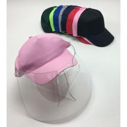 masque visière transparente protection covid 19 sur casquette