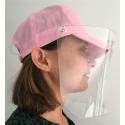 Casquette visière transparente protection covid 19