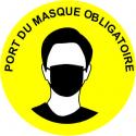 Adhéisf de sol - Port du masque obligatoire