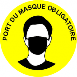 Adhésif de sol - Port du masque obligatoire