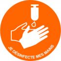 Adhésif de sol - Lavage des mains