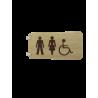 SIgnalétique en drapeau Toilettes