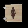 Signalétique murale en drapeau toilettes femme
