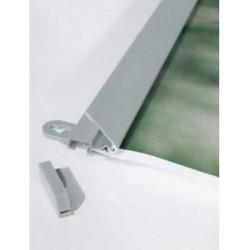 Profil clippant en aluminium anodisé pour Bâche légère publicitaire #AC4131