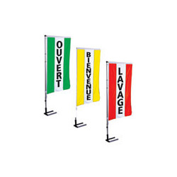 drapeau publicitaire texte occasion ,ouvert, soldes, bienvenue # PV0051