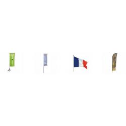 drapeaux ,mats et  voile danimation publicitaire