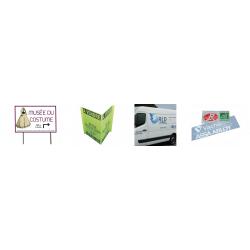 Panneaux publicitaires, plaque de signalétique,plaques professionnelles ,affiche, adhésifs