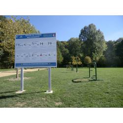 Kit panneaux publicitaire de signalétique type pré-enseigne alu  avec poteau  galvanisés et  personnalisation