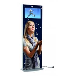 Totem communication intérieur vidéo-digital