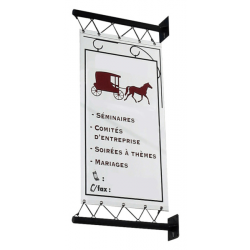 Enseignes perpendiculaires pour façade et magasin